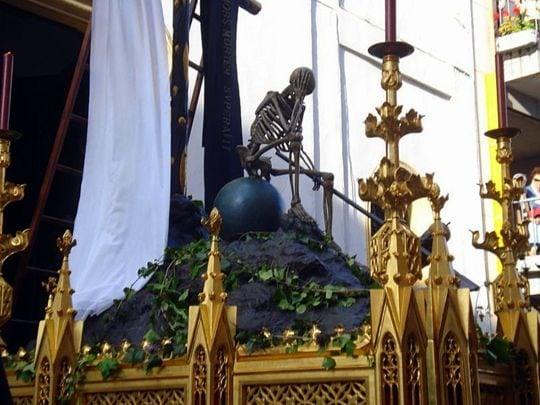 Semana Santa in Seville skeleton float