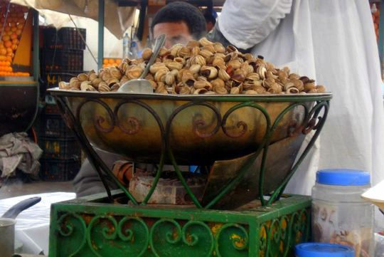Pictures from Marrakesh: Snails at the market