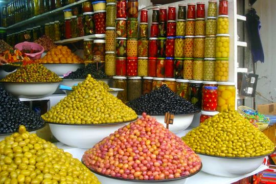 Pictures from Marrakesh: Olive vendors