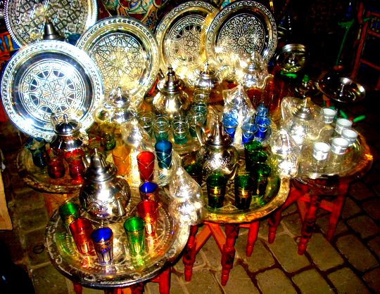 Pictures from Marrakesh: Tea sets