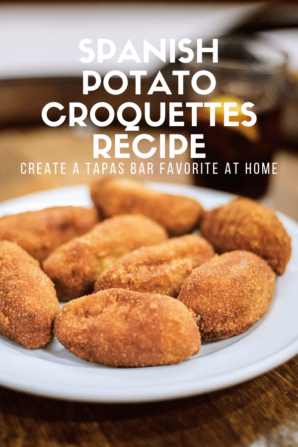 If you're like many visitors to Spain, you've probably wondered how to make your favorite tapas at home.  Luckily, many of them are easy and delicious. This potato croquettes recipe is one of my favorite authentic Spanish dishes, and it's deceptively simple!