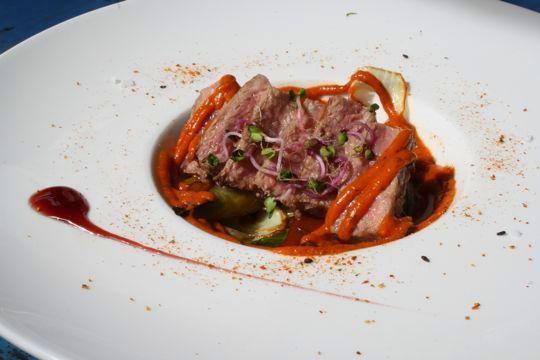 Iberian pork tartar best tapas in Seville