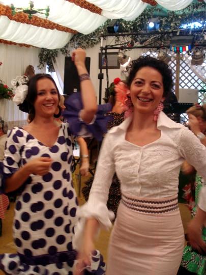 Lauren dancing Sevillanas
