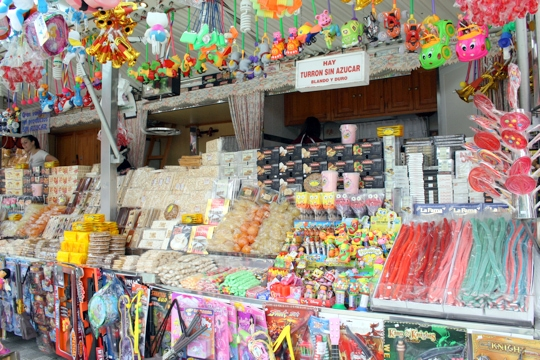 Candy stall at the Feria