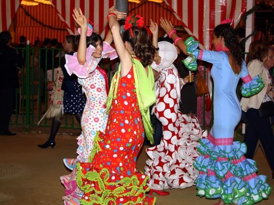 Dancing Sevillanas, Feria in Seville