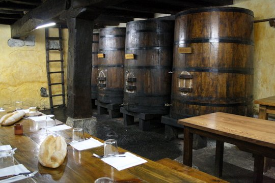 Inside the cider house