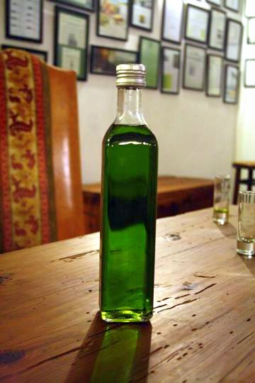 Green olive Oil