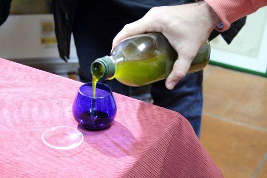Tasting olive oil Oro Bailen