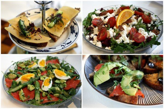 Salads and sandwiches in Amsterdam food