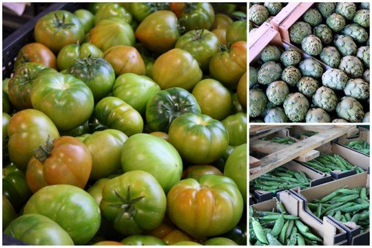 Green vegetables at Mercamadrid