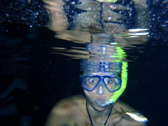 Lauren snorkeling