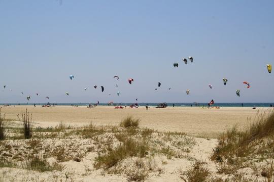 Tarifa beach Cadiz, Tarifa kite surfers