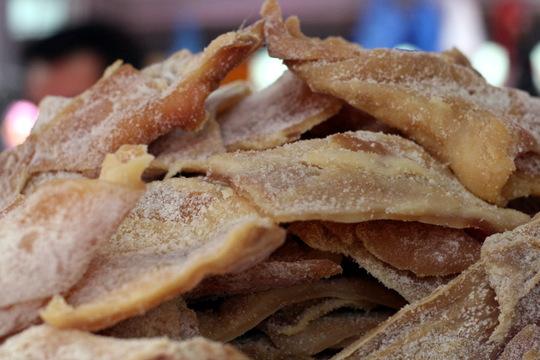 Dried lard.