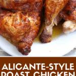 Pin for Spanish roast chicken post.