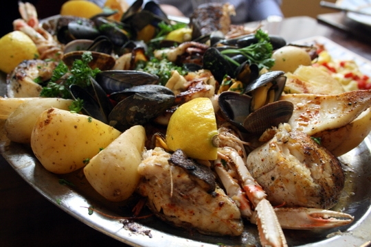 seafood platter, food in Spain blog
