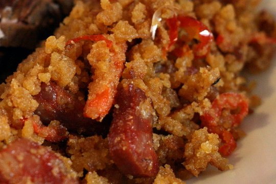 Spanish style Thanksgiving stuffing recipe: Migas con Chorizo!