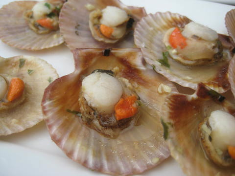 Best Fall foods in Spain: scallops