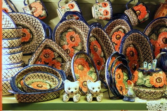 Polish pottery in Krakow