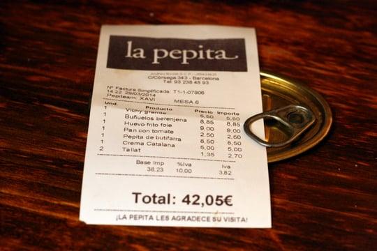 La pepita Barcelona price