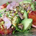 Spanish tuna belly, blood orange and avocado salad.