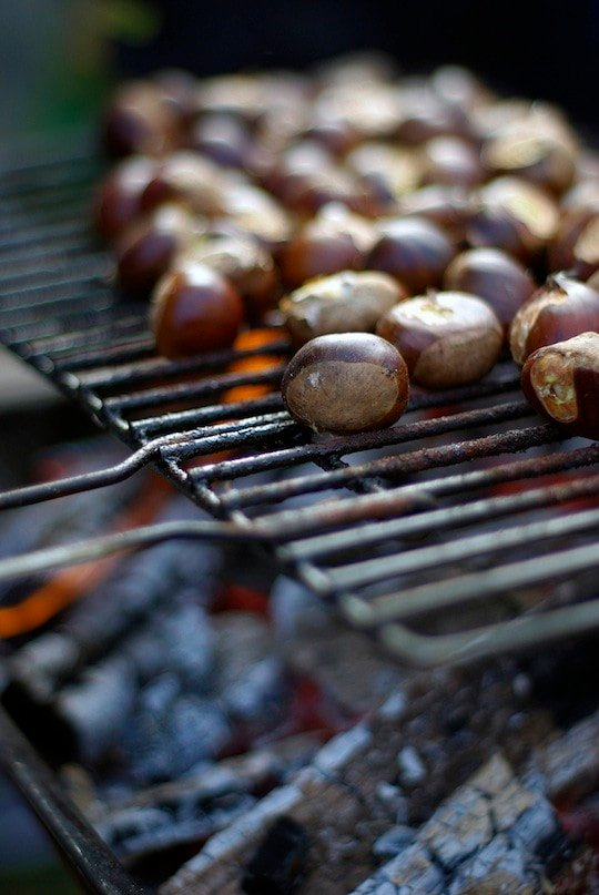 Best Fall foods in Spain: roasted chestnuts