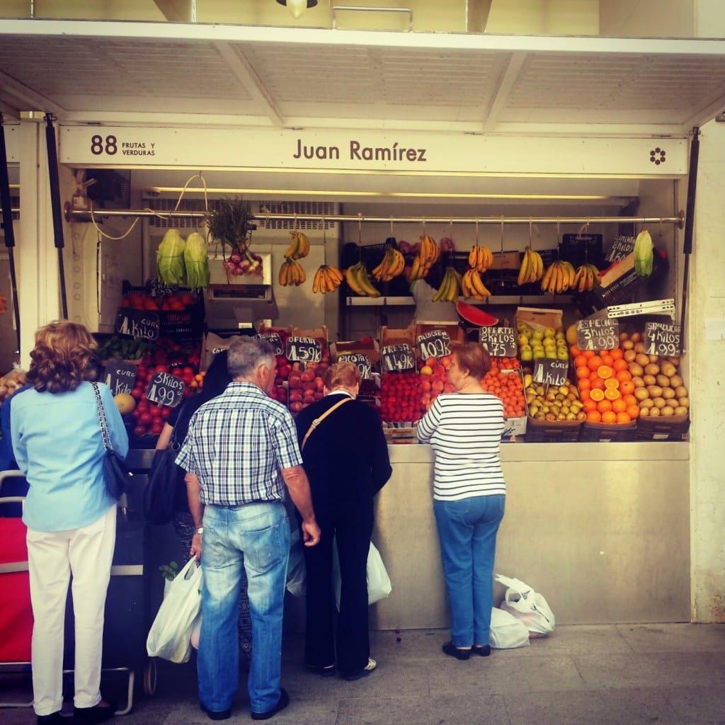 Cadiz fruit market