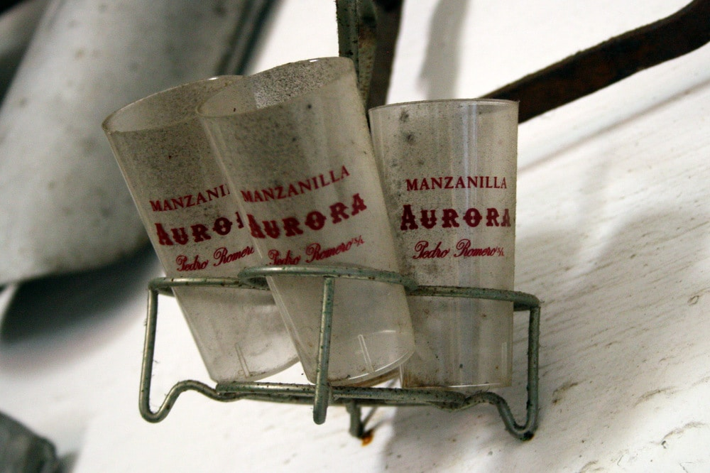 sherry glasses in Sanlucar