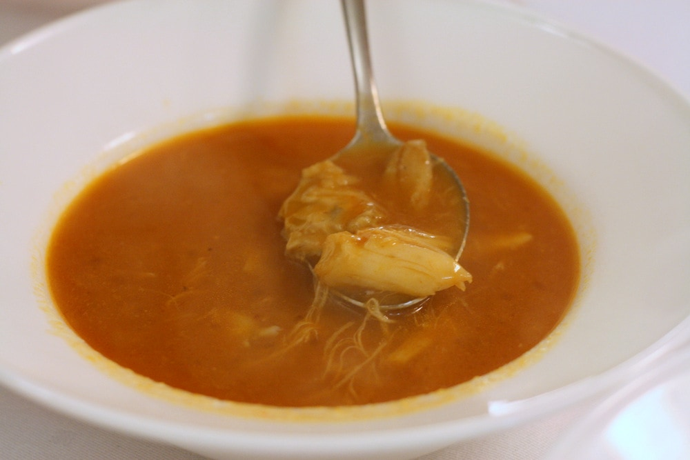 fish soup at Meson Arropain in Lekeitio