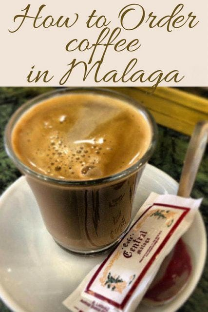 "A creamy ""mitad."" Find out about this and the special lingo for how to order coffee in Malaga ."