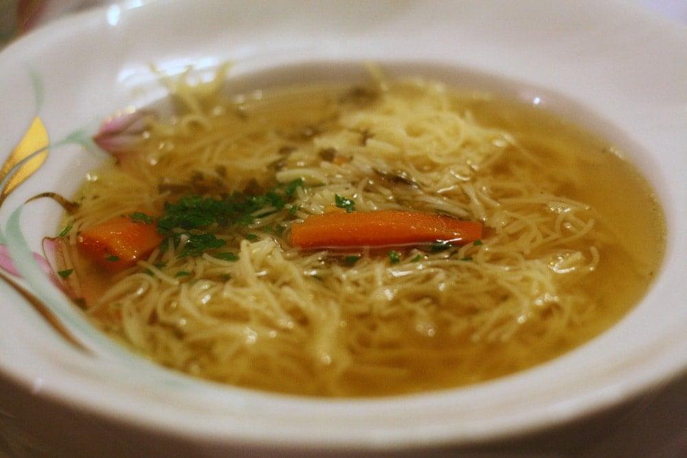 Polish chicken soup