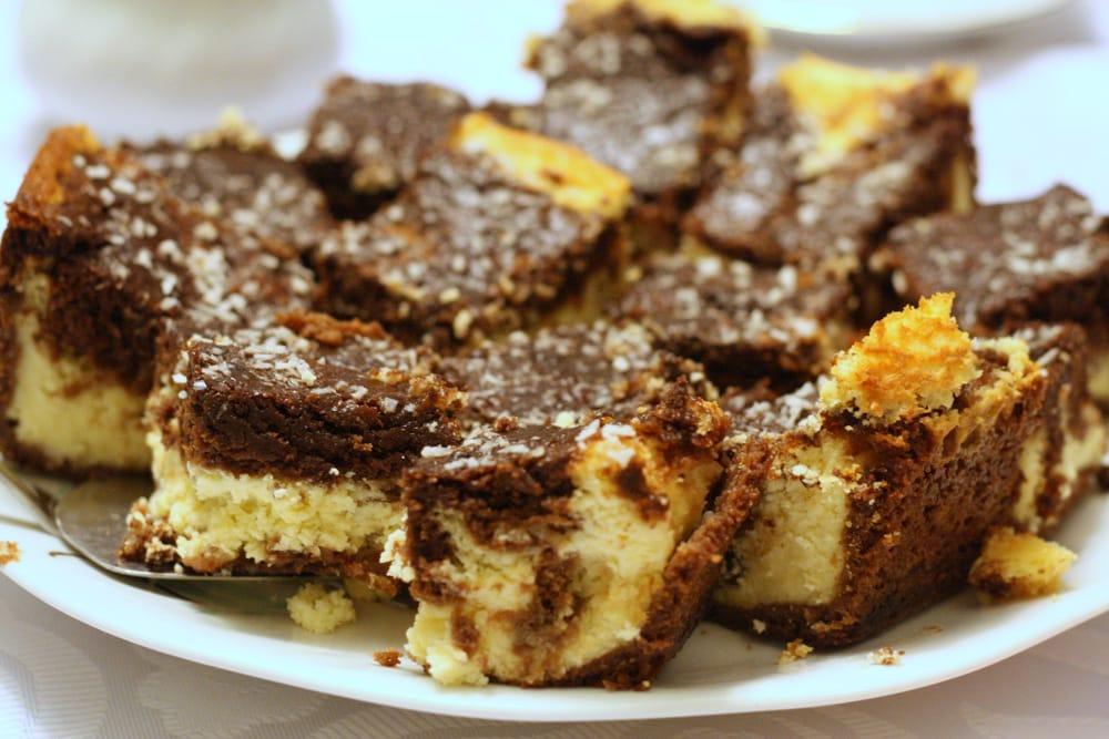 Homemade Polish cheesecake