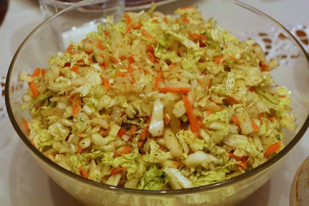 Polish cabbage salad