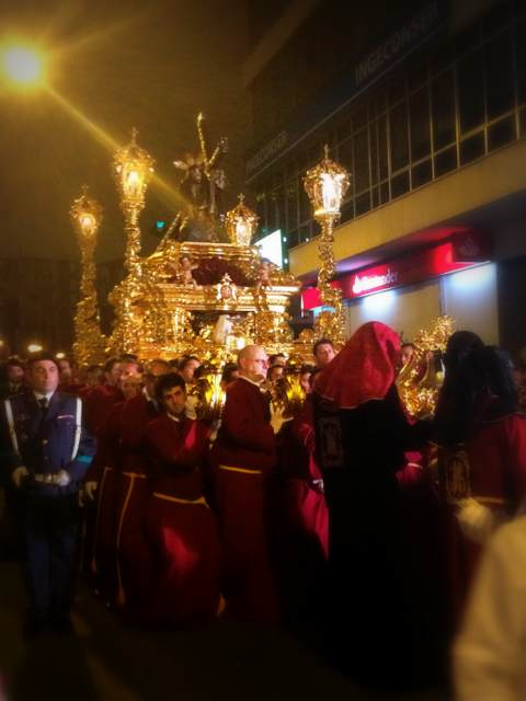 """Procession of """"El Chiquito"""" during Holy Week in El Perchel"""