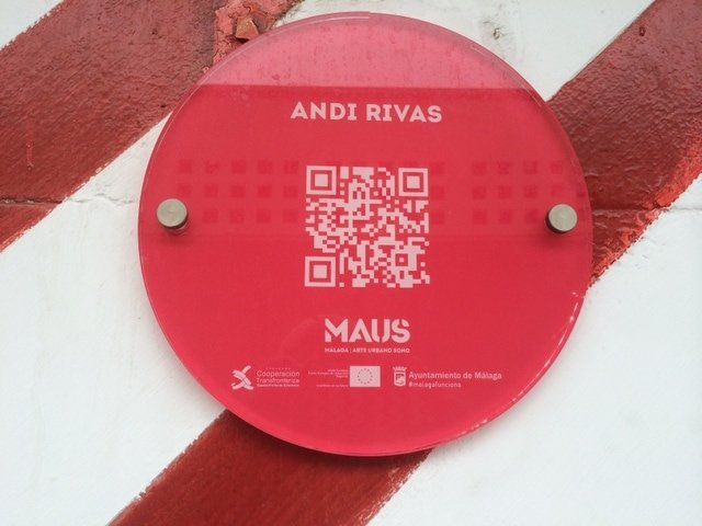 QR code for Andy Rivas' Street Art in Malaga