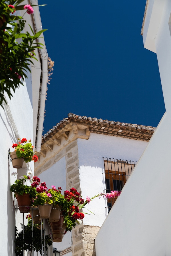 One of the best things to do in Malaga in June is take a road trip to visit the beautiful pueblo blancos like this!