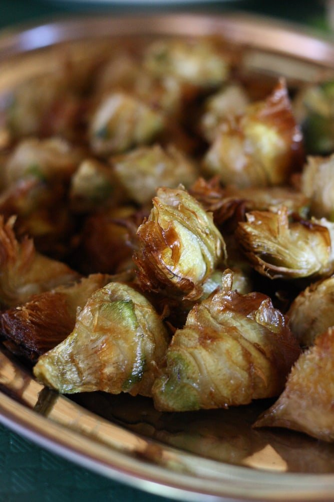 fried artichokes in Terres de l'Ebre