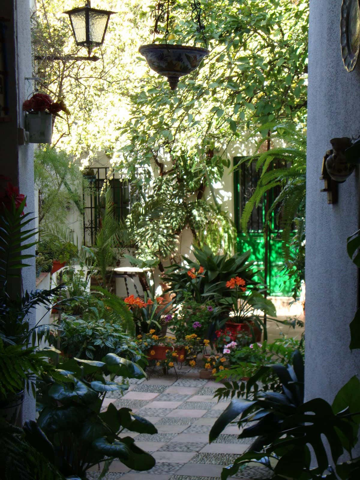 Things to do in Malaga in May: go see the patios