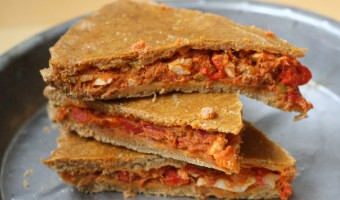 A delicious and easy homemade tuna empanada recipe for a Galician style baked tuna empanada.