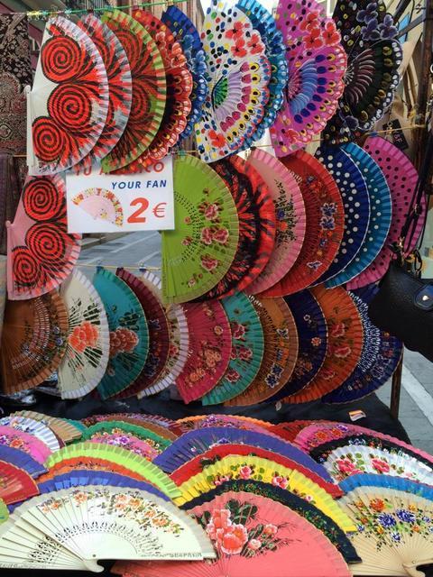 Beautiful Spanish fans make a great Malaga souvenir