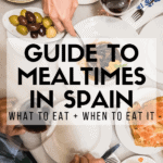Here's a fun fact: families in Spain almost never eat paella for dinner. Churros and hot chocolate, on the other hand, are one of those treats that you can enjoy at any time of day. Traditional dining norms in Spain are still very highly respected, and knowing what to eat and when to eat it can make your experience all the more authentic. This guide to Spanish mealtimes will get you started! #Spain #foodie