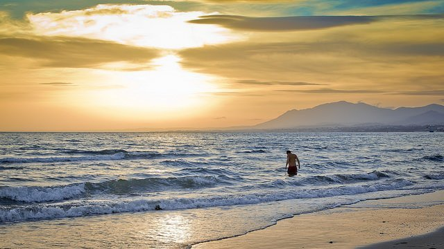 Cool off in Malaga with a swim at the beach