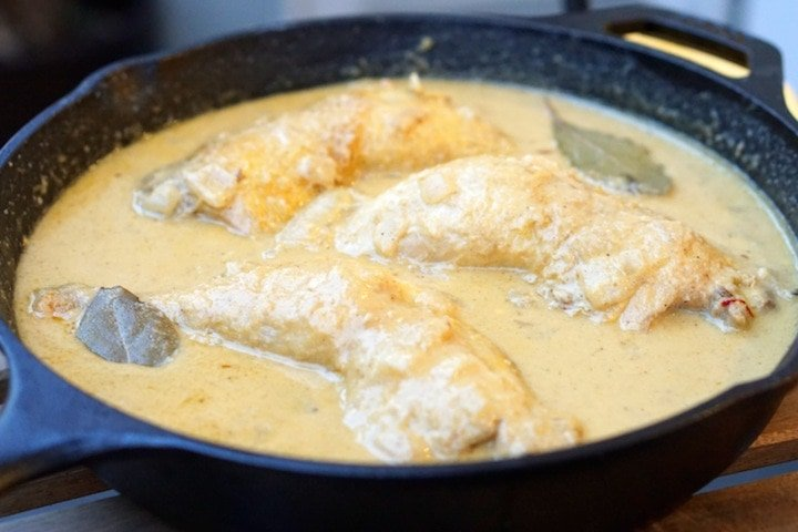 Chicken in Almond Sauce Recipe (Pollo en Pepitoria)