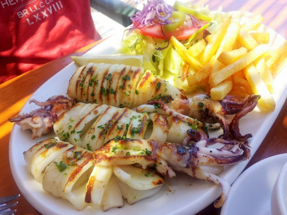 Best bites in Mallorca: Grilled Calamari