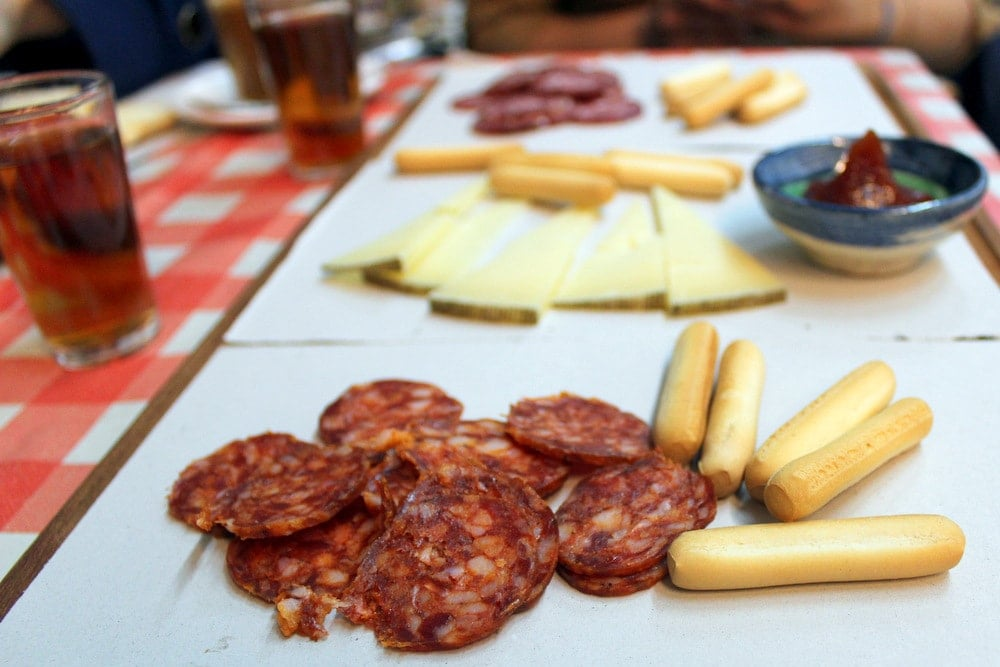 Spanish chorizo and other cured meats