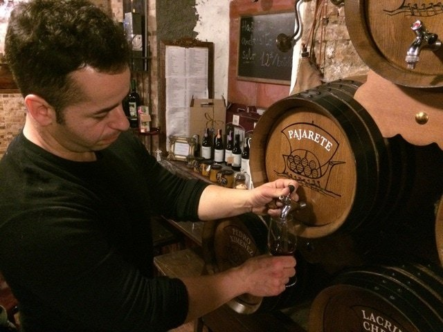 One of the best ways to live like a local in Malaga is to partake in the aperitif! Try some local sweet wine paired with a bit of cheese!