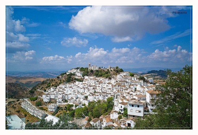 Beautiful blue skies over the white town of Casares. Absolutely worth a visit during your time in Malaga