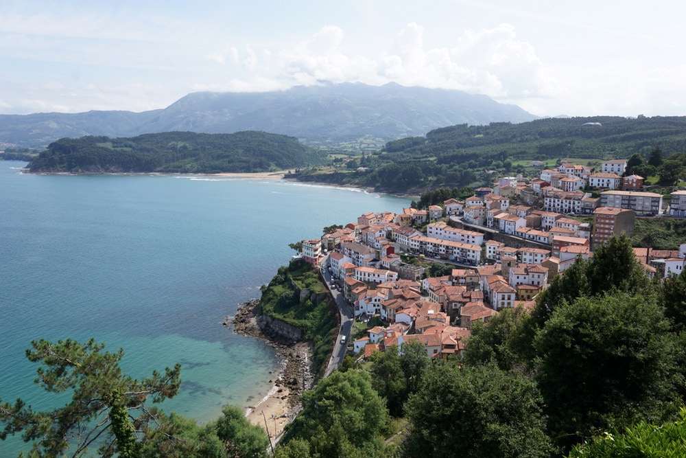 The incredible view over Lastres, Asturias.