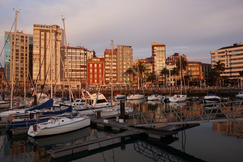 Gijón Asturias on our northern Spain road trip.