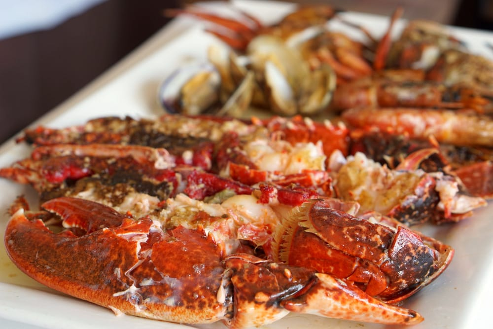 A delicious mariscada in Luanco Asturias at Restaurante Guernica.
