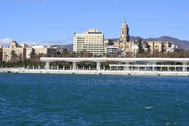 One of the romantic things to do in Malaga is take a boat ride